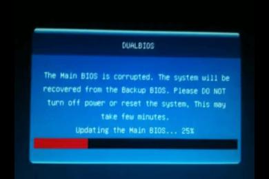 自作機  BIOS更新 アップデート失敗