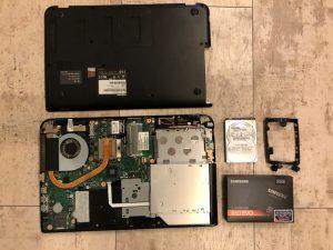 ダイナブックSSDアップグレードSSD交換換装移行 金沢区港南区のpc修理出張サポート