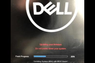 DELL BIOSアップデート失敗