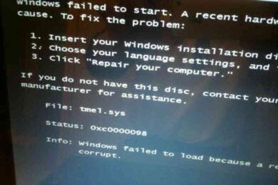 Windows failed to start